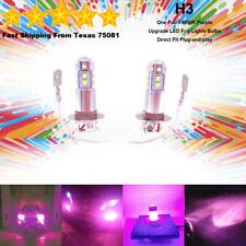 H3 LED Fog Driving Light Bulbs Kit Ultra Bright Premium Lamp 40W 14000K Purple