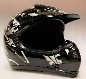 Motocross Helmet Kids, Youth, XS, S, M, L, XL, BLACK, Aust. Std, Dirt bike, quad