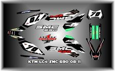 KTM 690 SMC SEMI CUSTOM GRAPHICS KIT BLACK
