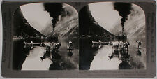 Keystone Stereoview of Gudvangen's Outlook, NORWAY from the 1920's 400 Card Set