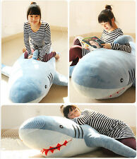 Large GIANT HUGE SHARK STUFFED ANIMAL PLUSH SOFT TOY PILLOW SOFA BEAN BAG GIFT