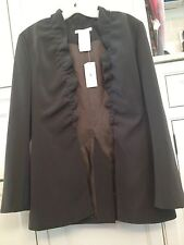 NWT $1075 Morteza Pashai 40 Womens Green Blazer Jacket Ruffle France Runway VHTF