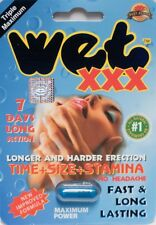 Triple Maximum Wet XXX Male Sexual Enhancer 7 Days Premium Supplement, (1- Pill)