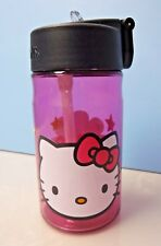 Hello Kitty Tumbler Thermos Water Bottle Plastic 360ml(12oz)   - Pink Clear