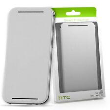 GENUINE HTC ONE M8 HC V941 OFFICIAL FLIP CASE COVER | WHITE