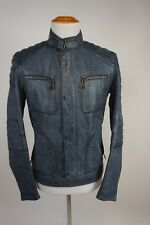 RARE Belstaff Weybridge Leather Moto Jacket Racing Blue Sz 48 New Was $1995