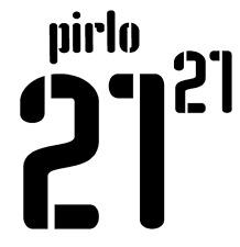 ITALIA PIRLO NAMESET 2008 SHIRT CALCIO Numero Lettera di calore stampa CALCIO AWAY