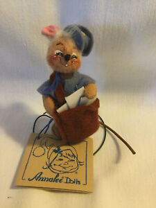 "1996 Annalee 4"" Post Man Mouse with Tag 1993"