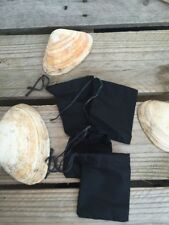 "3""x5"" Cotton Single Drawstring Muslin Bags (Black Color)"
