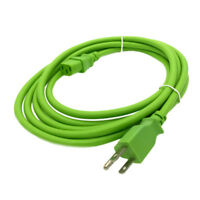 Green 10 FT Universal 3 Prong Power Cord Cable 18AWG Computer Printer Monitor TV
