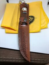 Case XX Twin Finn Two Knife Fixed Blade Set Leather Handles And Sheath