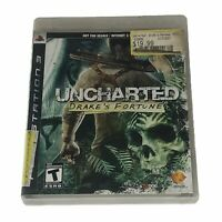 Uncharted: Drake's Fortune (Sony PlayStation 3, 2007) Complete w/Manual