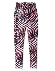 Zubaz NFL Women's Houston Texans Zebra Print Legging Bottoms