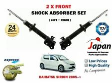 FOR DAIHATSU SIRION 1.0 1.3 1.5 2005-> 2X FRONT LEFT + RIGHT SHOCK ABSORBER SET