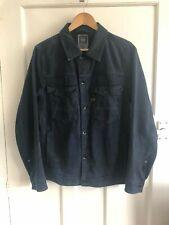 Mens Gstar Raw Denim Jacket Dark Blue Size Large