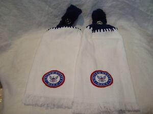 Department of U.S. Navy Set of 2 Handmade Kitchen Hand Fridge Golf Bar Towels