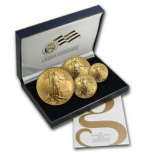 2008-W Burnished Gold American Eagle 4 Coin Set - Box and Certificate
