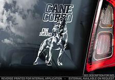Cane Corso - Car Window Sticker - Corz Molosser Italian Mastiff Dog Sign - TYP1
