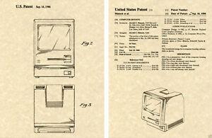 APPLE MACINTOSH US PATENT Art Print READY TO FRAME Steve Jobs TWIGGY Computer