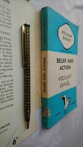 VISCOUNT SAMUEL BELIEF AND ACTION 1ST/1 1939 PENGUIN PELICAN A56 IN JACKET !!!
