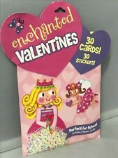 """Peaceable Kingdom """"Enchanted"""" Valentines '2012' - 30 Cards - 30 Stickers"""