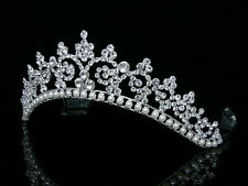 Bridal Rhinestone Crystal Pearls Wedding Crown Tiara 6242
