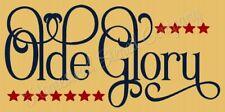 "Reusable Stencil 8488 N 12""x24"" Olde Glory - Mylar Sign Stencil"