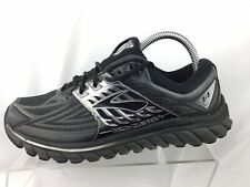 e64faf47c4a Brooks Glycerin 14 Black Silver Running Athletic Sneakers Shoes Mens 7.5 M