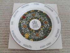 Bone China Queen Elizabeth II Silver Jubilee Dish by Crown of Staffordshire