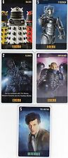 Doctor Who the Card Game 2009 c7e - 5 Art Cards: Daleks, Cybermen, Clerics