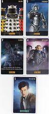 Doctor Who the Card Game 2009 c7e - 5 Art Cards: Daleks, Cybermen, Clerics