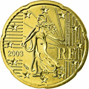 [#700737] France, 20 Euro Cent, 2003, SPL, Laiton, KM:1286