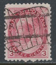 Canada #78(4) 1898 3 cent carmine QUEEN VICTORIA CANADA FLAG CANCEL CV$2.00