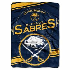 "Buffalo Sabres NHL Blanket 60 x 80"" Raschel Stamp Design"