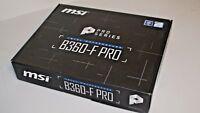MSI B360-F PRO 18 PCIe slot Intel LGA1151 CPU USB 3.1 pour Crypto Mining