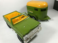 Vintage 70's Nylint Stables Toy Truck and Horse Trailer car vtg