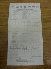 29/06/1957 Cricket Scorecard: Middlesex v Lancashire [At Lords] Three Day Match