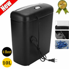 6-Sheet Strip-Cut Paper/Credit Card Shredder Destroy Home Office Equipment