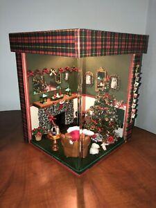 "Dollhouse Miniature Room Box ""Christmas Joy""  Beautiful Hand Crafted Artist 1:12"