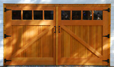 Timber garage doors with windows A brace 7ft wide x 7ft high Double glazing 16mm