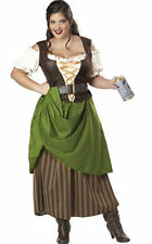 Tavern Maiden Fancy Dress Costume Plus Size Dress 18 to 20