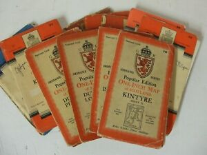 11 off Vintage ordnance survey maps  ( some early cloth)
