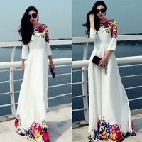 New Summer Women Maxi Sundress Beach Floral Long Cocktail Evening Party Dress