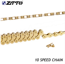 Mountain Rode Bike Bicycle Chain Golden Hollow 10 Speed Bicycle Chain 116 Links