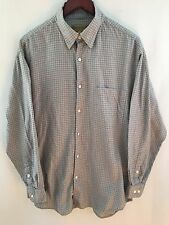 TRICOTS ST. RAPHAEL Mens 100% COTTON BUTTON DOWN FLANNEL WORK SHIRT Sz L
