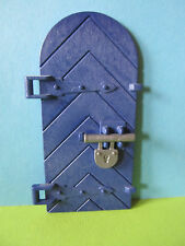 PLaymobil*Tür blau mit Türriegel zu  3268 4865 4866 6000 Königsritterburg
