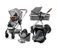 Kinderkraft Kinderwagen 3in1 VEO Kinderwagenset Kombikinderwagen Baby Grau
