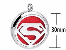 Super Woman, Diffuser Necklace Locket Stainless Still 10ml Oil 11 pads & Gift