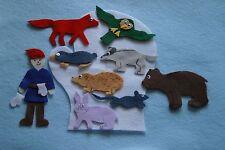 """The Mitten"" handmade felt/ flannel board children story set"
