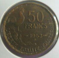 50 Francs 1953 B G Guiraud : TTB : pièce de monnaie Française N19